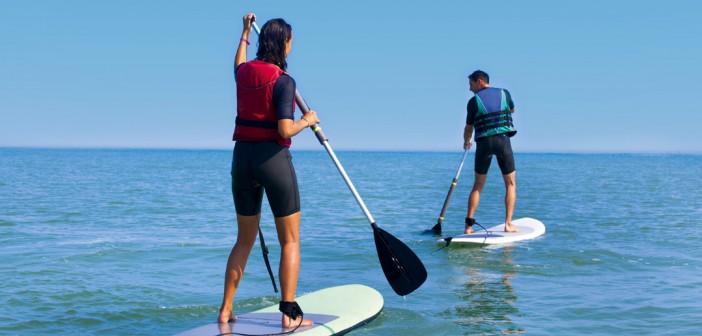 Initiation au stand-up paddle à Seignosse