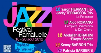 Festival de Jazz à Ramatuelle – 16 au 20 août 2015